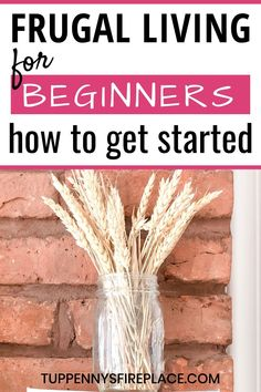 Frugal living for beginners. The key to saving money is knowing how to live a frugal life, enjoy it and be thrifty with your money. Ways To Save Money, Money Tips, Money Saving Tips, Frugal Living Tips, Frugal Tips, Bill Organization, Money Savers, Frugal Meals, Saving Ideas