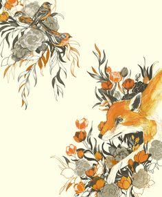 fox in foliage by Teagan White, via Behance