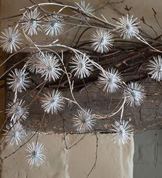 Silver allium garland - this looks super stylish and glamourous on the mantlepiece or as a main centrepiece when entertaining.