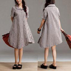 Loose irregular skirt/ Plaid skirt by Focus2013 on Etsy, $69.90