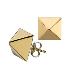 """Get ready to get swept up with square shaped stud earrings. The style is eternally elegant thus the ability to maximize impact over and over again. Post back for pierced ears. <br /> <br />Large Square Stud Earrings. Length and width are approximately 3/8""""."""