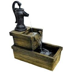 """28"""" Country Trough Garden Fountain"""