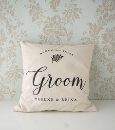 Groom 【名入れ】 クッションカバー