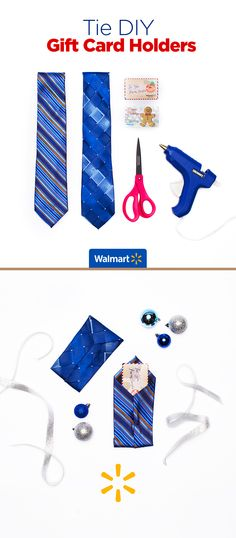 Tie DIY Gift Card Holders | Walmart - Dad might think it's another necktie but he'll be pleasantly surprised. Present gift cards in style with these fashionably clever gift-card holders. Everything you need is at Walmart.