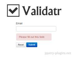 Validatr – Cross Browser HTML5 Form Validation #HTML5 #validator #validation #jQuery #browser #validatr #form