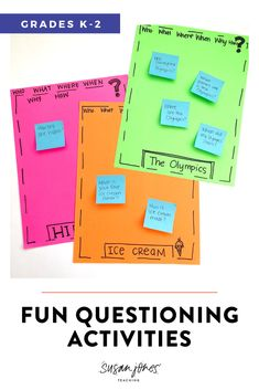 Learn how to teach questioning to primary readers with these fun and engaging activities! There are a bunch of free ideas, passages, and an anchor chart in this post!