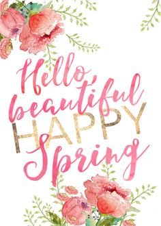 I have a couple of Easter and Spring printables I want to share with you today that you can use as decor in your home or make into a greeting card! With Spring and Easter coming soon I was inspired to create something pretty for you guys. I used watercolor flowers... #easter #freeprintable #spring