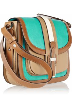 Michael Kors Gia Saddle color-block leather shoulder bag