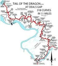 Tail of the Dragon - Deals Gap Bordering NC and TN
