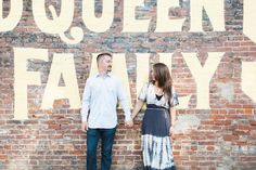 Downtown Redlands engagement pictures.  Photo by Leah Vis Photography.