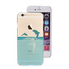 iPhone 7 Case,New Fun Animal Series Transparent Clear Soft TPU Protective iPhone 7 Case by Fancy Case (Dolphins) Buy Iphone 7, Iphone 7 Cases, Phone Case, Dolphins, Fancy, Free Shipping, Stuff To Buy, Animals, Random