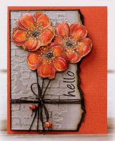 hello card by Birgit