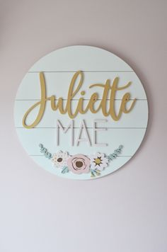 Custom Name Sign Round Sign Floral shiplap Nursery New Baby Names, Cute Baby Names, Baby Name List, Unique Baby Names, Baby Girl Names, Pretty Names, Boy Names, Baby Girls, Nursery Name