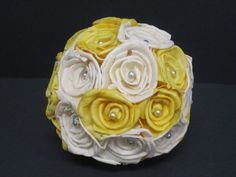 Sola flower kissing ball  Yellow by SuperiorCraftSupply on Etsy  Yellow and grey