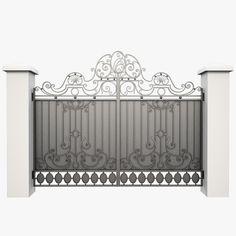 Wrought Iron Gate Obj - 3D Model
