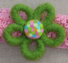 Headband Felt Flower with Confetti Button Pink and by Blossomshkd, $11.00    Where this with a cute summer sundress!