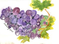 Grapes Grapes Wine by TheMousersHouseArt on Etsy, $4.00