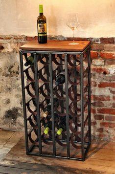 Made of steel, leather and wood Cabinet Furniture, Wood Furniture, Wine Rack Storage, Vintage Industrial Furniture, Wine Decor, Wine Cellar, Steel Frame, Mobile Tv Stand, Interior Design