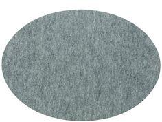 Södahl Multi felt Spisebrikke 48 x 33 cm grå