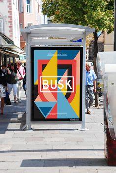 Busk - Singer Songwriter Festival by Thomas Kronbichler, via Behance