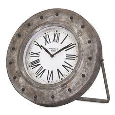 Imax Worldwide 88710 Mabrey Galvanized Desk Clock