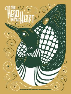 Furturtle Show Prints - THE HEAD AND THE HEART with Blitzen Trapper Poster