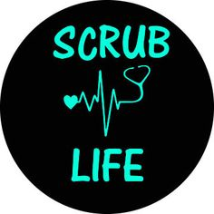 Scrub Life by ArchandJillGraphics on Etsy Custom Spare Tire Covers, Camera Cover, Scrub Life, Scrubs, Don't Forget, Etsy, Products, Work Wear, Gadget
