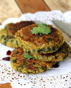 chickpeas and spinach tikki 0003 by great-secret-of-life, via Flickr