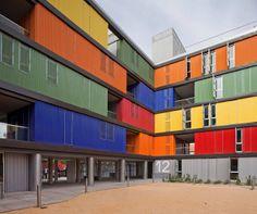 Housing Building in Carabanchel, Avenida de la Peseta, Carabanchel, Madrid, Spain - Amann-Canovas-Maruri #colour