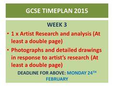 Week 3 GCSE Timeplan 2015