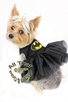 cute dog dresses superhero bat halloween black gold glitter tutu dress costume for small medium large dogs pets small