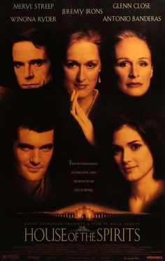 Directed by Bille August. With Jeremy Irons, Meryl Streep, Winona Ryder, Antonio Banderas. A rancher, his clairvoyant wife and their family face turbulent years in South America in this adaptation of Isabel Allende's best-seller. Winona Ryder, Jennifer Love, Good Movies To Watch, Great Movies, Hiroshima E Nagasaki, Meryl Streep Movies, Spirit Film, 90s Movies, Romantic Movies