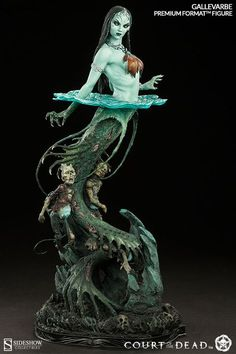 Court of the Dead Premium Format Figure Death´s Siren Gallevarbe 61 cm Toy Art, Mermaid Art, Mermaid Paintings, Tattoo Mermaid, Vintage Mermaid, Mermaid Tails, Mini Paintings, Modelos 3d, Miniature Figurines