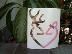 Browning Deer Buck and Doe Decal for Auto by VinylDecalsandGlass, $5.99