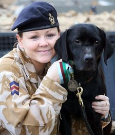 RAVC arms and explosive search dog Sadie, seen here with handler Lance Corporal Yardley was awarded the Dickin Medal in February 2007, for outstanding gallantry and devotion to duty while assigned to the Royal Gloucestershire, Berkshire and Wiltshire Light Infantry during conflict in Afghanistan in 2005. On 14 November 2005 military personnel serving with NATO's International Security Assistance Force in Kabul were involved in two separate attacks. Sadie and Lance Corporal Yardley were…
