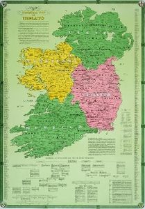 Irish ancestral map.