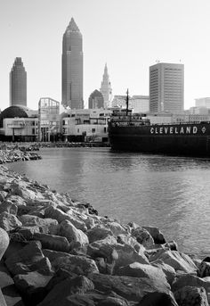 Cleveland lakefront trail courtesy david b the cleveland cleveland lakefront art print publicscrutiny Images