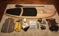 Travel paddle board SUP handcrafted by Jarvis Boards in Austin TX.