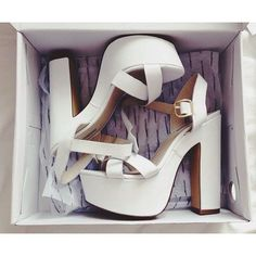chunky heels in any color really. maybe dark blue or black or cream or white!!!