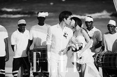 Wonder Girls' Sun kisses her hubby for 'Elle' honeymoon pictorial