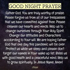 Good Night Prayer, Good Night Quotes, Prayer For Guidance, Morning Inspirational Quotes, Love Hug, Good Night Image, Facebook Image, Go To Sleep, Spiritual Inspiration