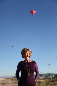 We took this one of Carolyn right outside our Albuquerque design studio #carolynpollack #balloonfiesta