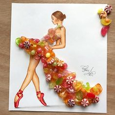 Mrs. Candy by Edgar Artis.  Dress made of hard candy