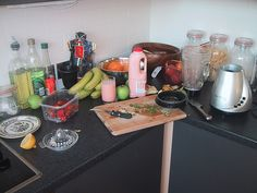Smoothie completed - its yummy! I am a health guru!     :) repin!