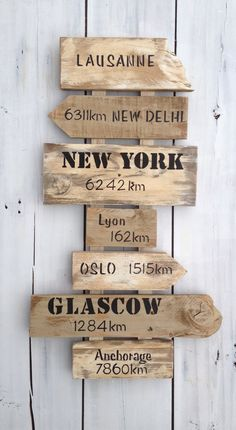 Customizable direction sign with wooden pallet arrows: Decorat … - nimivo sites