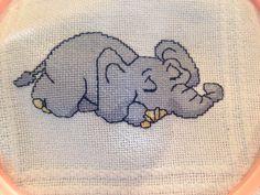Cross stitch baby elephant