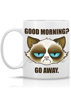 Personalized Grumpy Cat Coffee Mug ♥ L.O.V.E.