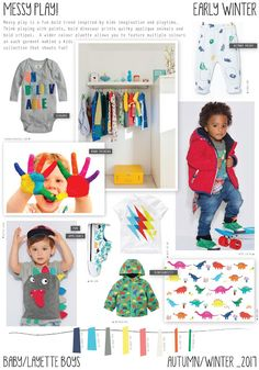 Emily Kiddy: Messy Play - Autumn/Winter 2016/17 - Baby/Layette Boys Trend