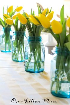 Easter Table Setting Ideas | Fun, easy and budget friendly! | onsuttonplace.com #bHomeApp