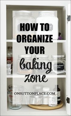 Baking Zone Organization | Tips for a quick and easy clean-up of your baking zone.
